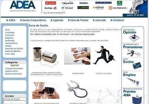 ADEA (La Asociación de Directivos y Empresarios de Aragón) patrocina las JornadasMarketingOnline.com