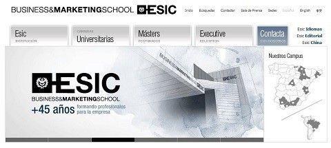 La escuela de negocios ESIC patrocina las JornadasMarketingOnline.com