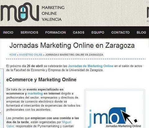 Las JornadasMarketingOnline.com en el blog de la empresa MarketingOnlineValencia.com de Miguel Lopez