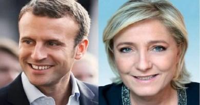 Conforme projeções, Macron e Le Pen irão disputar o segundo turno na França