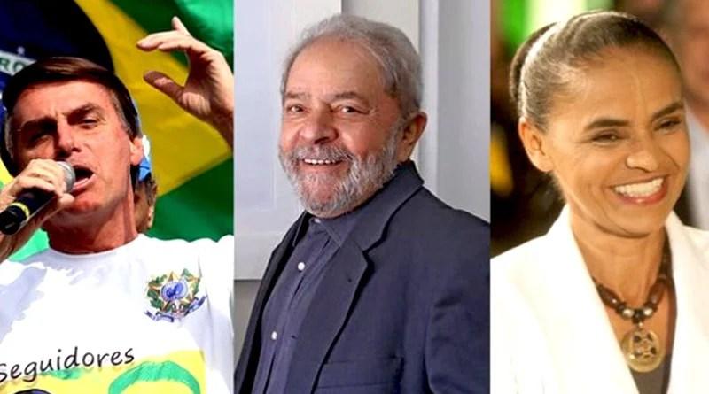 Datafolha: com Lula à frente, Marina e Bolsonaro disputam segundo lugar em 2018