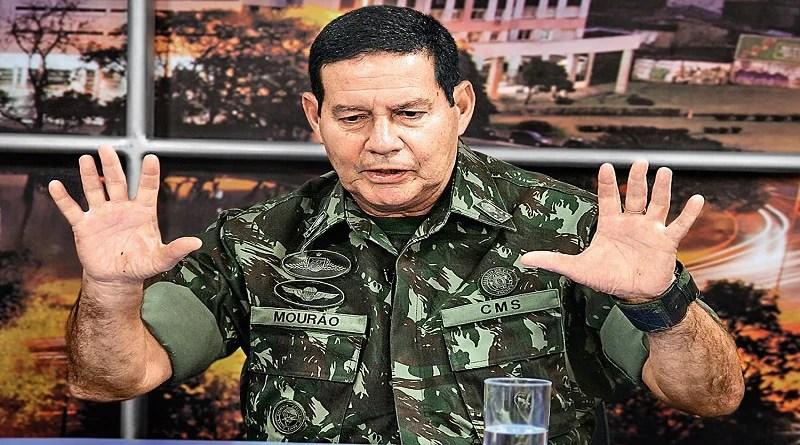 CMJP aprova voto de repúdio contra vice de Jair Bolsonaro, general Mourão