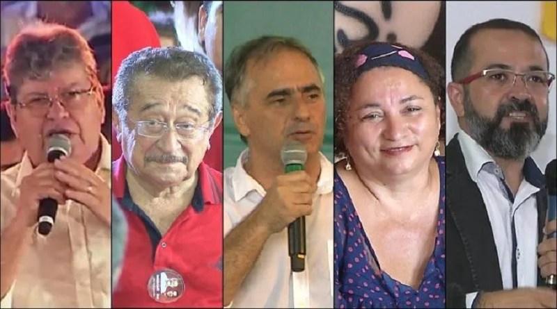 Veja a agenda dos candidatos a governador da Paraíba