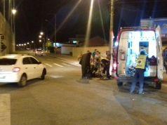 Acidente deixa mulher ferida na SC-403 na Vargem Grande
