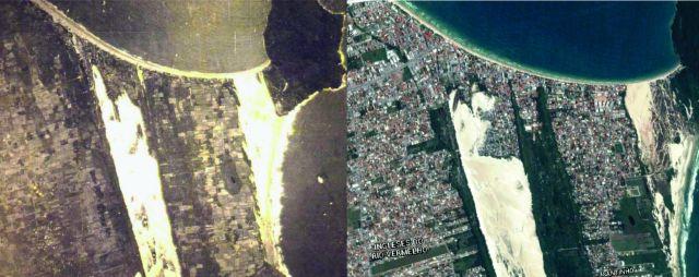 Foto de 80 anos mostra o avanço populacional na Praia dos Ingleses