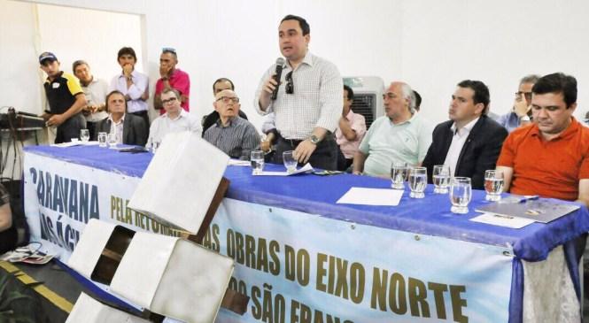 Gustavo Fernandes comemora menção do Ramal Apodi nas obras da transposição do São Francisco