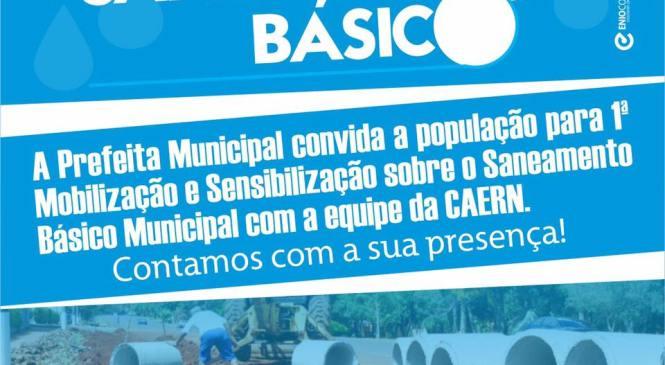 Prefeitura de Rafael Godeiro convida população para reunião do Plano Municipal de Saneamento Básico