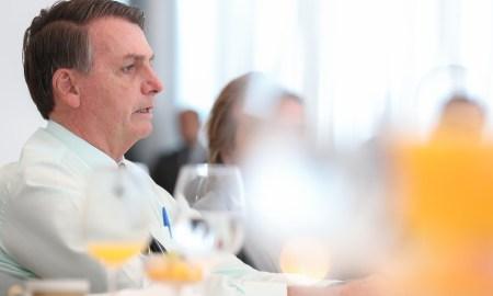 24.04.2020 - Brasília/DF - Encontro com Deputado Vitor Hugo (PSL/GO), Líder do Governo na Câmara dos Deputados e deputados no Palácio da Alvorada. Foto: Marcos Corrêa/PR