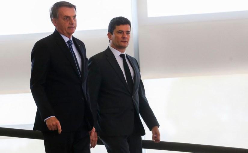 Sergio Moro e Jair Bolsonaro disputam o controle da narrativa