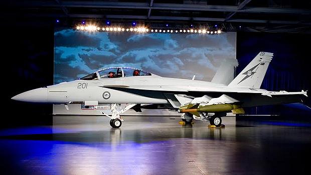 Boeing FA-18 Super Hornet com as cores da Real Força Aérea Australiana