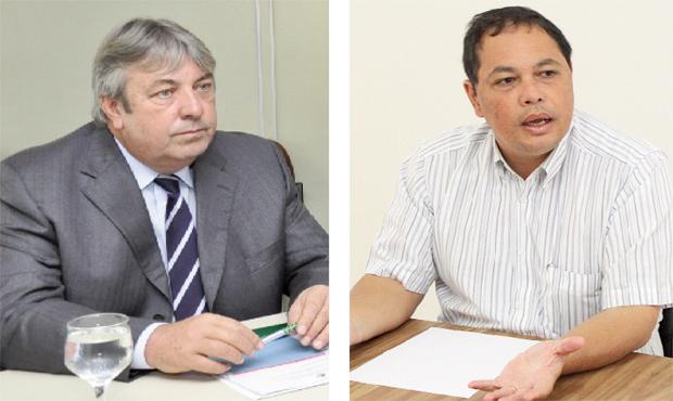 Presidentes da Faeg e da SGPA, Mário Schreiner e Ricardo Yano: agronegócio vive boa fase, mas precisa de mudanças