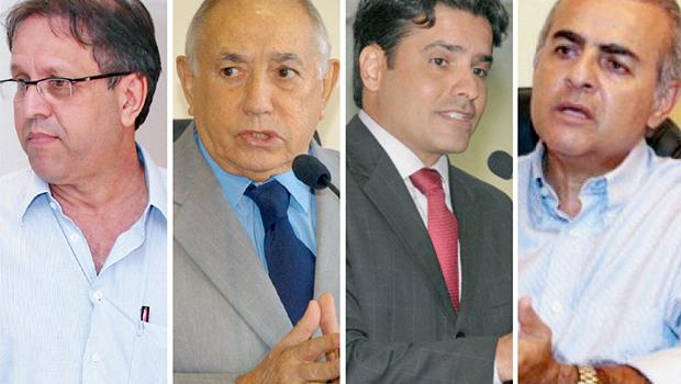 Marcelo Miranda, Siqueira Campos, Marcelo Lelis e Paulo Mourão: cada um está se mexendo ao seu modo para outubro | Fotos: Fotos: Assembléia Legislativa/TO