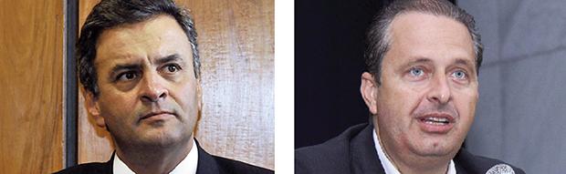 Aécio Neves e Eduardo Campos: juntos, o tucano e o socialista não têm a metade das intenções de voto da presidente Dilma Rousseff, que pode ser eleita no primeiro turno