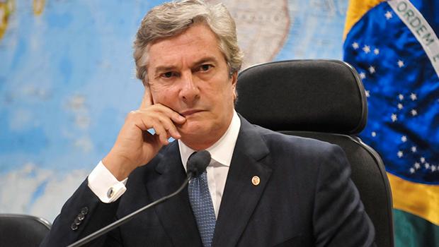 Senador Fernando Collor: ganhou do então presidente Lula a BR Distribuidora| Foto: Agência Senado