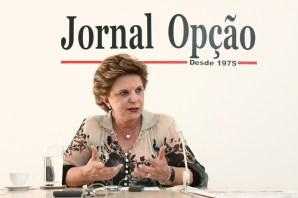 """Senadora Lúcia Vânia:  """"Qualquer mudança fora do que está ai é perigosa"""" / Foto: Fernando Leite"""