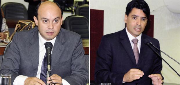 Governador interino Sandoval Cardoso (à esquerda): favorito natural. Deputado Marcelo Lelis: ele poderá convencer governistas? | Foto: Diretoria de Comunicação