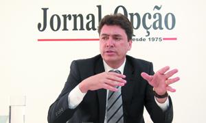 """Senador Wilder Morais: """"sem dinheiro não se faz política no Brasil / Foto: Fernando Leite"""