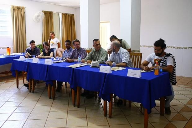 Realizadores debateram filmes apresentados no primeiro dia da mostra competitiva do festival. Foto: Divulgação/Fica/Flávio Isaac