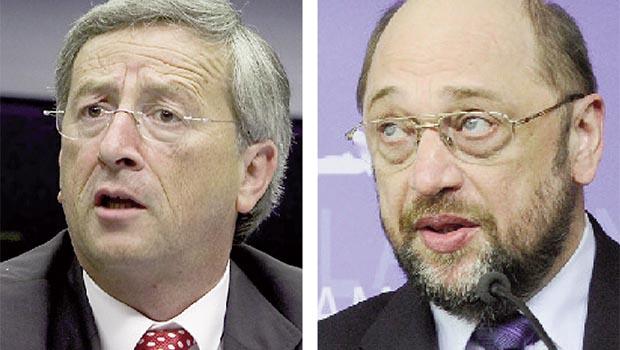 Jean-Claude Junker e Martin Schulz: um deles vai ditar os rumos da Europa nos próximos anos
