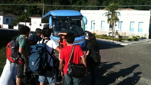 Comitiva chegou a cidade de Goiás pouco depois das 16h de terça-feira. Foto: Marcello Dantas/Jornal Opção Online
