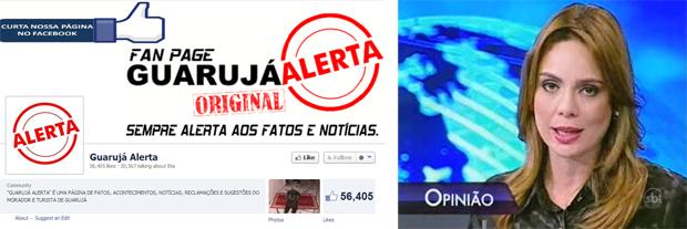 O blog do Guarujá e as insanidades editoriais de Rachel Sheherazade comprovam que a informação é uma arma que pode matar se usada de modo irresponsável. Fotos: Reprodução/Facebook