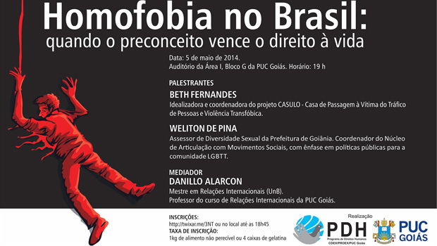 PUC-GO lança campanha contra a homofobia nesta segunda-feira