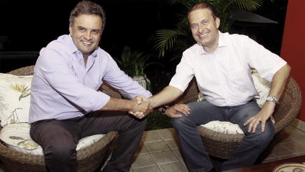 Aécio Neves e Eduardo Campos: os novos números do Ibope são mais favoráveis a eles do que à adversária petista  / Foto: Roberto Pereira/PSB