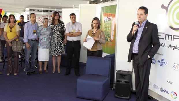 O diretor-técnico do Sebrae, Wanderson Portugal Lemos, realizou a abertura do Empório no Fica