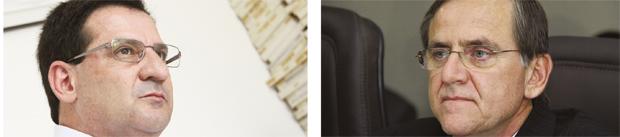 Vanderlan Cardoso: coligação anêmica apenas entre PSB, PRP e PSC / Petista Antônio Gomide: chapa solo depois de ter tentado vários nanicos   Foto: Edilson Pelikano-Fernando Leite/Jornal Opção