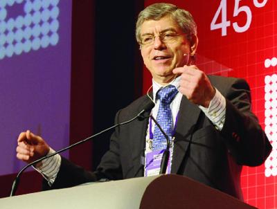 O ex-presidente César Graviria Trujillo foi  um fator importante na virada das eleições / Foto: Alexandre Campbell