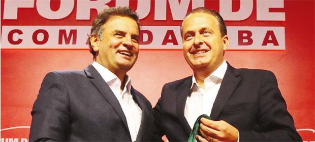 Aécio Neves e Eduardo Campos: eles são adversários, mas Dilma não quer que façam oposição