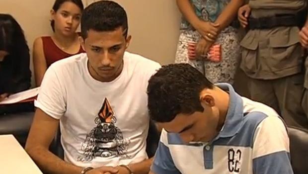 Os dois acusados durante a primeira audiência de instrução, no dia 5 de março