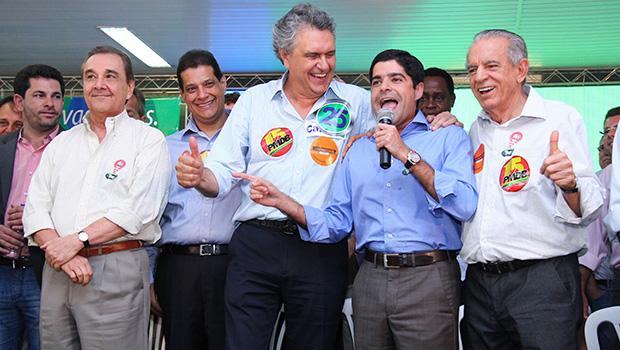 ACM e Caiado Foto: Fernando Leite/Jornal Opção