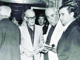 Pedro Nava, Alphonsus de Guimaraes, Carlos Drummond de Andrade e Cyro dos Anjos, em 1980