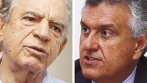Alguns prefeitos do DEM afirmam dar apoio irrestrito para Marconi Perillo caso Ronaldo Caiado (direita) feche aliança com Iris Rezende. Fotos: Jornal Opção