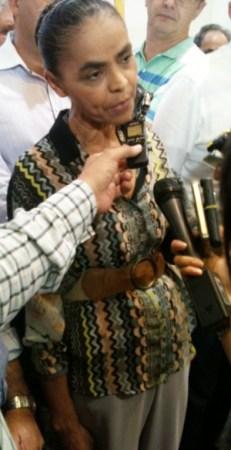Pré-candidata a vice de Campos, Marina descartou qualquer pacto político com o DEM. Foto: Marcello Dantas/Jornal Opção Online