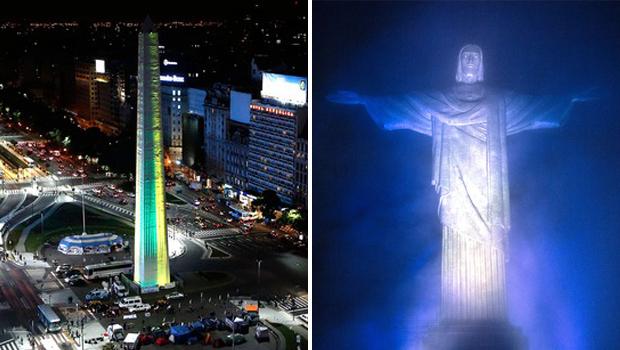 Contagiados pelo espírito esportivo, Brasil e Argentina trocam homenagens