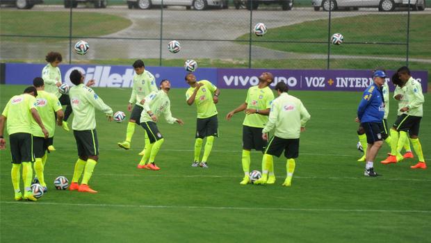 Seleção faz último treino para o jogo de amanhã contra o México