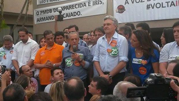 Iris Rezende, Armando Vergílio e Ronaldo Caiado são os expoentes de uma chapa que suscita dúvidas quanto à coesão política | Foto: Marcelo Gouveia/Jornal Opção