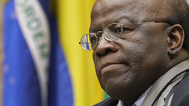 Joaquim Barbosa foi o primeiro negro a presidir o STF. Ele se aposenta aos 59 anos.  Foto: Fellipe Sampaio/SCO/STF