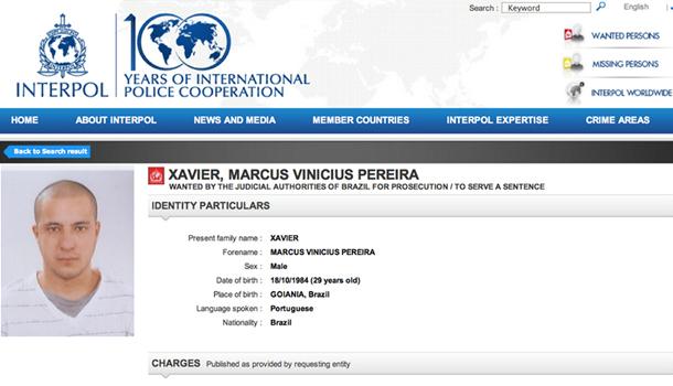 Acusado da morte de Valério Luiz está na lista de foragidos da Interpol