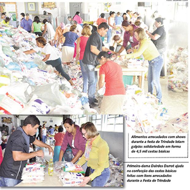 Prefeitura de Trindade arrecada 90 toneladas de alimentos em shows durante a romaria