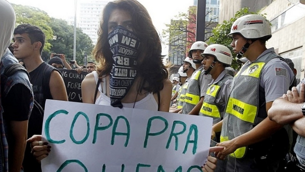 Presas 19 pessoas suspeitas de atos violentos em protestos contra a Copa