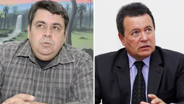 Coronel Macário e delegado Marcos Martins Machado: dois dos policiais militares e civis que pretendem um assento no Legislativo Estadual | Fotos: Edilson Pelikano