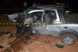 Fiat Strada era conduzida pelo sargento da Polícia Militar Mauro Antônio de Carvalho, de Ceres