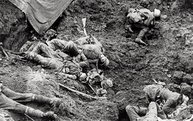 Cena da 1ª Grande Guerra Mundial: mais de 13 milhões de mortos e 21 milhões de mutilados e traumatizados
