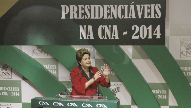 Presidente Dilma Rousseff na CNA, quando falou aos produtores rurais: visita ao Tocantins ainda sem data
