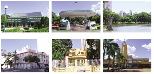 Algumas das construções em art-déco situadas na região central de Goiânia   Foto: Fernando Leite/Jornal Opção