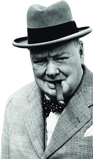 Winston Churchill: primeiro-ministro britânico por duas vezes (1940-45 e 1951-55) e prêmio Nobel de Literatura