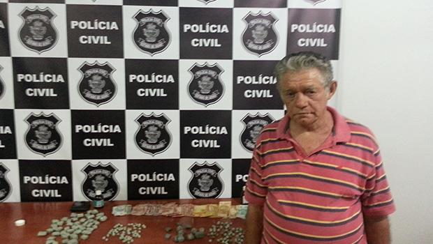 Idoso de 68 anos é preso por tráfico de drogas em Vicentinópolis